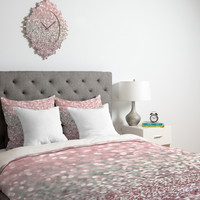 Lisa Argyropoulos Girly Pink Snowfall Duvet Cover