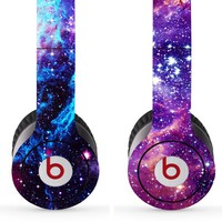 Skin Kit 2 Design Set for Solo / Solo Hd Beats By Dr. Dre - $1 Shipping! - (Headsets Not Included) - Universe & Nebula, galaxy headphones