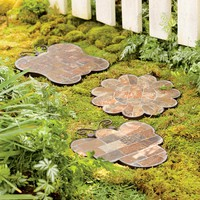 Mosaic Slate Garden Stepping Stones - Plow & Hearth