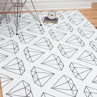 Diamonds Are Floor-ever Rug 4x6 | Mod Retro Vintage Decor Accessories | ModCloth.com