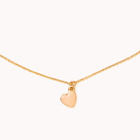 Lacquered Heart Charm Necklace