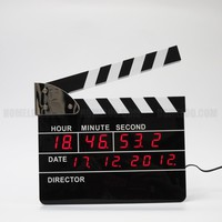 Movie Clapboard LED Wall Clock