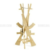 SUKOO DIY Wooden Gun Accessories Holder