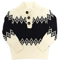 Peek 'Nathan' Fair Isle Mock Neck Sweater (Baby Boys) | Nordstrom