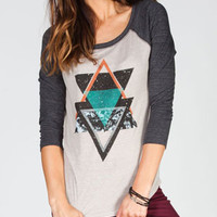 BILLABONG What Were Womens Baseball Tee