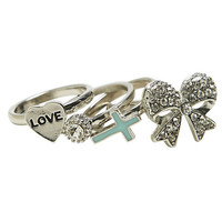 Varied Bling Ring Set | Wet Seal