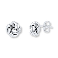 Love Knot Earrings Sterling Silver