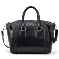 ROMWE | Crocodile Black Buckle Bag, The Latest Street Fashion