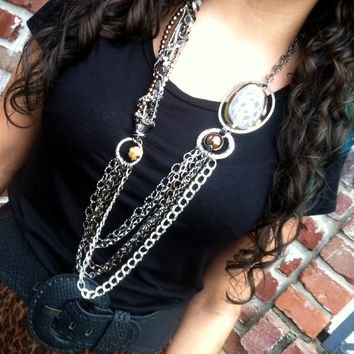 Multi Strand Leopard Necklace