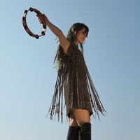 Vintage Rough Out Suede Fringe Dress