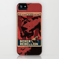 Boxer Rebellion  iPhone & iPod Case by Galen Valle
