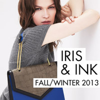 Iris & Ink Chelsea croc-effect leather shoulder bag – 0% at THE OUTNET.COM