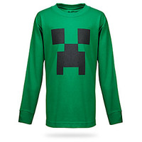 Minecraft Creeper Long Sleeve Kids Tee