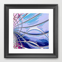 Re-Created Web of Lies4 Framed Art Print by Robert S. Lee