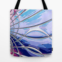 Re-Created Web of Lies4 Tote Bag by Robert S. Lee