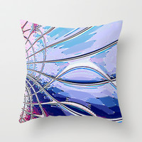 Re-Created Web of Lies4 Throw Pillow by Robert S. Lee
