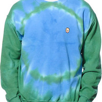 Odd Future Earl Tie Dye Green Crew Neck Sweatshirt