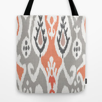 ikat in sooty isle Tote Bag by Miranda J. Friedman