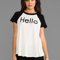 Wildfox Couture You Called Retro Raglan in Clean Black & Vintage White