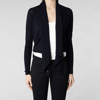 Womens Wasson Pirate Cardigan (Ink) | ALLSAINTS.com