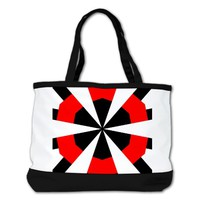 Ruth Gerd Red/Black/White Shoulder Bag