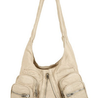 Alexander Wang Donna washed-leather shoulder bag – 50% at THE OUTNET.COM