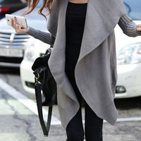 Loose knit shawl cardigan jacket BBCIB