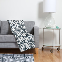 Heather Dutton Facets Optic Fleece Throw Blanket