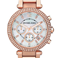 Women's Michael Kors 'Parker' Chronograph Bracelet Watch, 39mm - Rose Gold