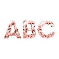 Lisa Argyropoulos Blissfully Pink Decorative Letters