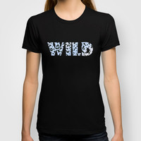 Wild Blue Cheetah T-shirt by Catherine Holcombe