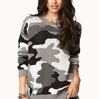 Camo Studded Sweater