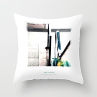 desert... for a while Throw Pillow by Pia Schneider [atelier COLOUR-VISION]