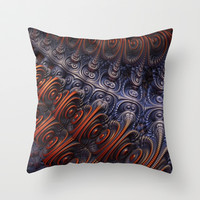 The Alien Ship Throw Pillow by Lyle Hatch