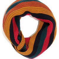 Across Campus Multi Striped Infinity Scarf
