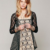Lace Inset Sequin Tunic