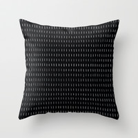Woodstock Chalkboard Throw Pillow by LacyDermy
