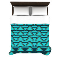 "Nina May ""Deco Angles"" Fleece Duvet Cover"