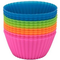 Baking Buddies - Pack of 12 Reusable Silicone Baking Cups - Lifetime Guarantee
