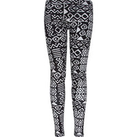 FULL TILT Ethnic Print Womens Ponte Leggins