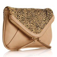 Cheetah Print Nude Clutch