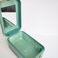 Seafoam Green Train Case