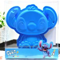 Disney Stitch Blue Silicone Muffin Cake Chocolate Jelly Cup Pan Mold Mould