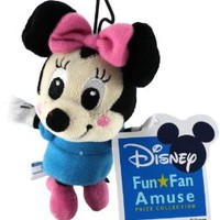 "Sega/Disney Prize Collection Plush Strap - 4"" - Minnie Mouse"