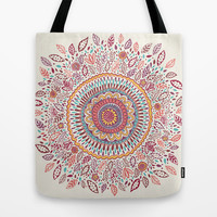 Sunflower Mandala Tote Bag by Janet Broxon