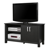 Walker Edison 44 in. Black Wood TV Stand