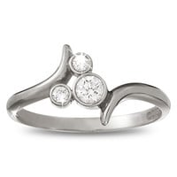 Mickey Mouse Diamond Ring - Platinum