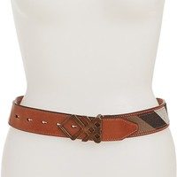 Burberry Check Leather Trim Belt | Nordstrom