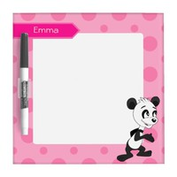 Dry Erase Board with panda bear cartoon