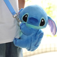 "DISNEY LILO & STITCH GIFT SET FOR KIDS. 1). STITCH MINI PLUSH CROSSBODY TOY H- 9 "" inch. 2). STITCH DRAWSTRING MINI PLUSH BAG 8"" x 8"" inch. 3). STITCH POKER PLAYING CARD. 4) STITCH COMPACT MIRROR & COMB. FREE US SHIPPING."